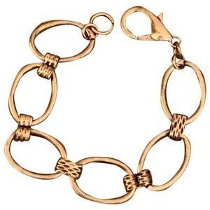 Free People  Brass Link Chain Bracelet